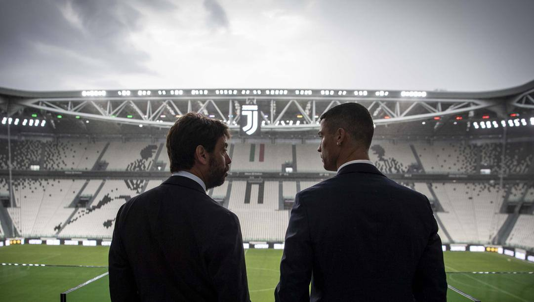 Il presidente Andrea Agnelli e Cristiano Ronaldo. Getty