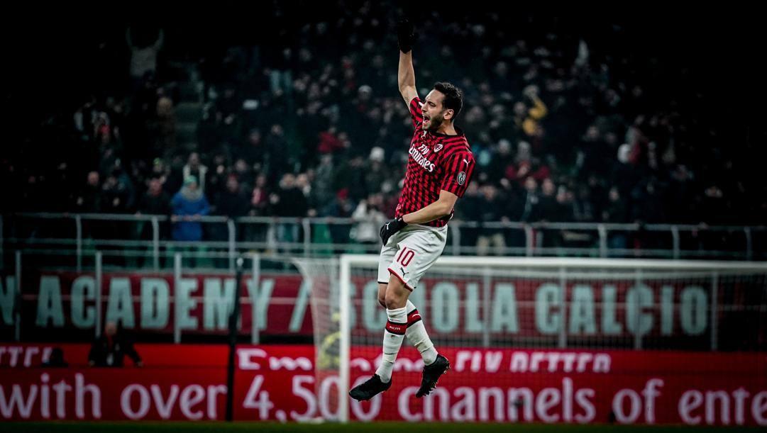 Hakan Calhaonglu, 25 anni, centrocampista turco del Milan. LaPresse