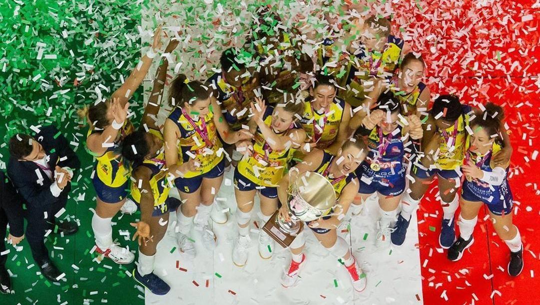 La festa per la Coppa Italia