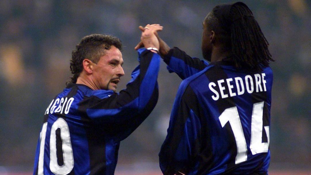 Roberto baggio e Clarence Seedorf. Ap