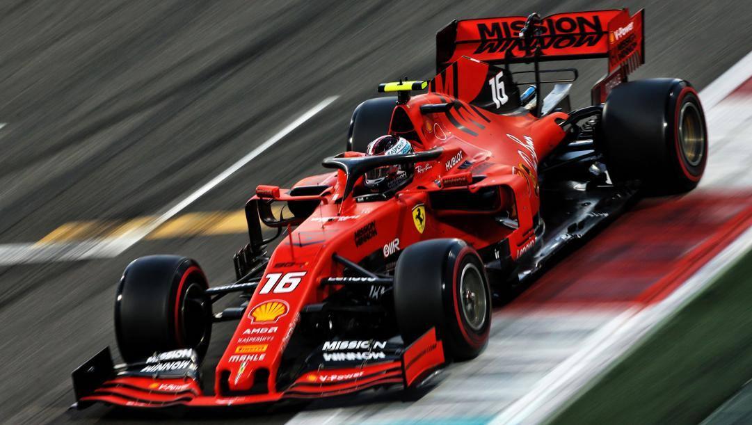 Charles Leclerc, 22 anni, sulla Ferrari nel GP di Abu Dhabi 2019. LAPRESSE
