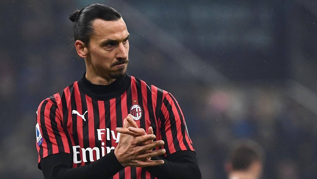 Zlatan Ibrahimovic, 38 anni, attaccante del Milan. Afp