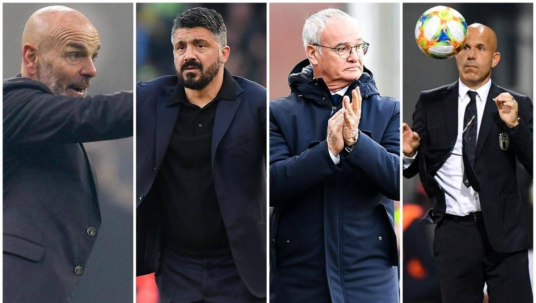 pioli, gattuso, Ranieri e Di Biagio.