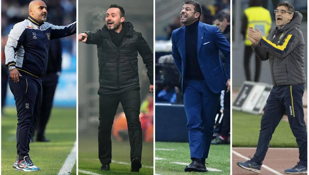 Fabio Liverani (Lecce), Roberto De Zerbi (Sassuolo), Roberto D'Aversa (Parma), Ivan Juric (Verona)