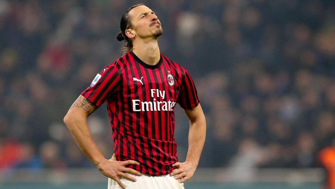 Zlatan Ibrahimovic, 38 anni. Epa