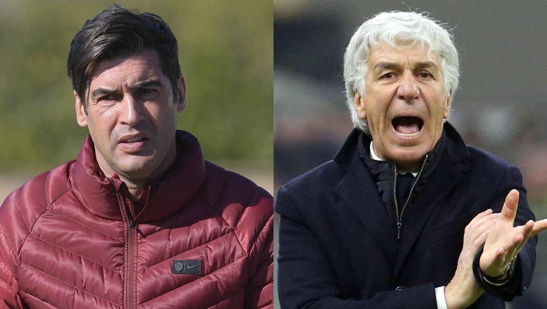 Paulo Fonseca e Gian Piero Gasperini. Lapresse, Ansa