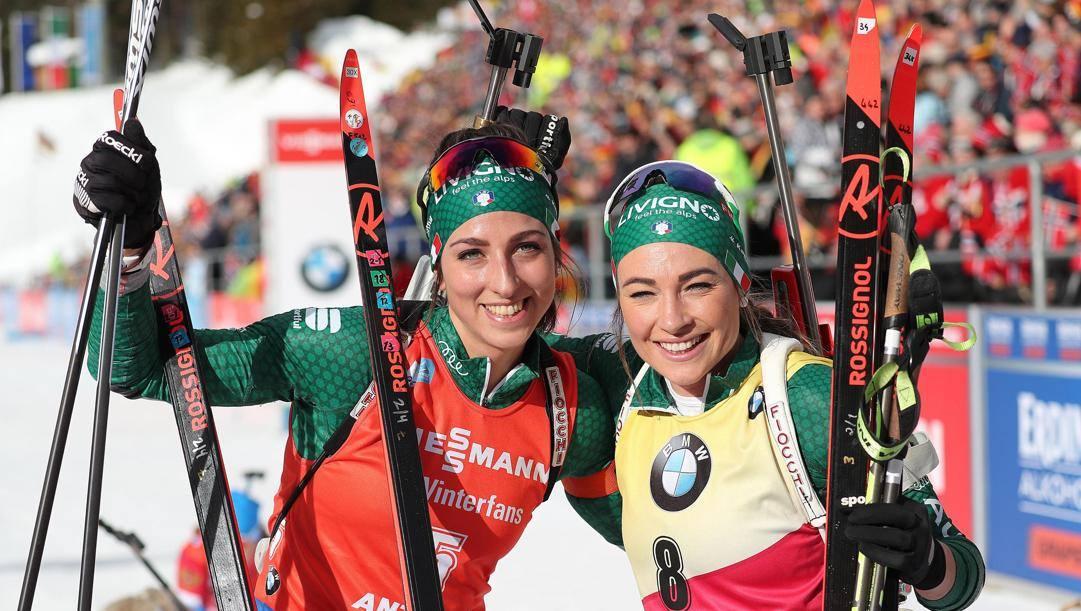 Lisa Vittozzi, 25 anni, e Dorothea Wierer, 29. Ansa