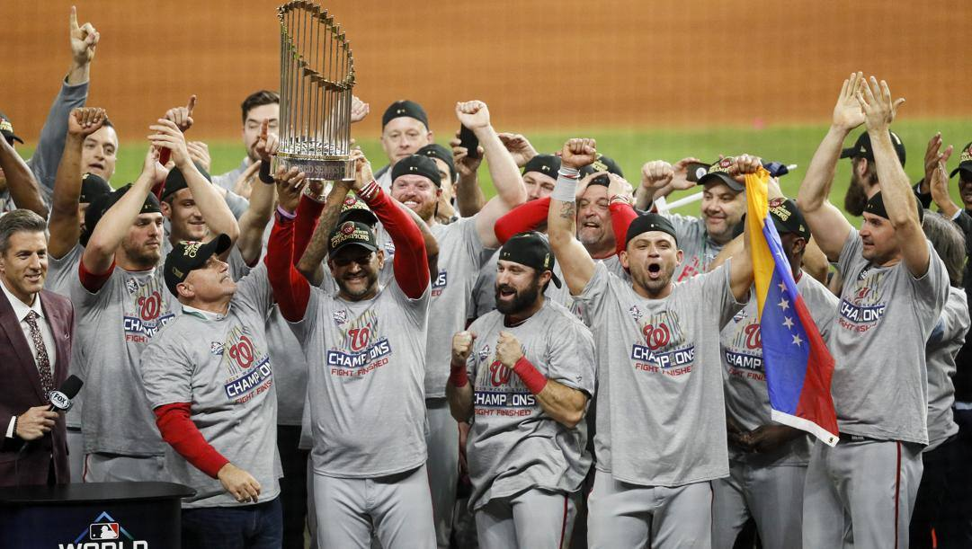 I Washington Nationals, campioni delle World Series 2019. Ap