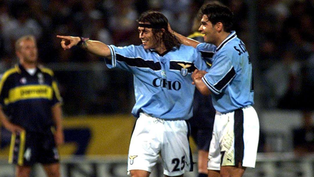 Almeyda e Conceicao con la maglia della Lazio. (Ansa)