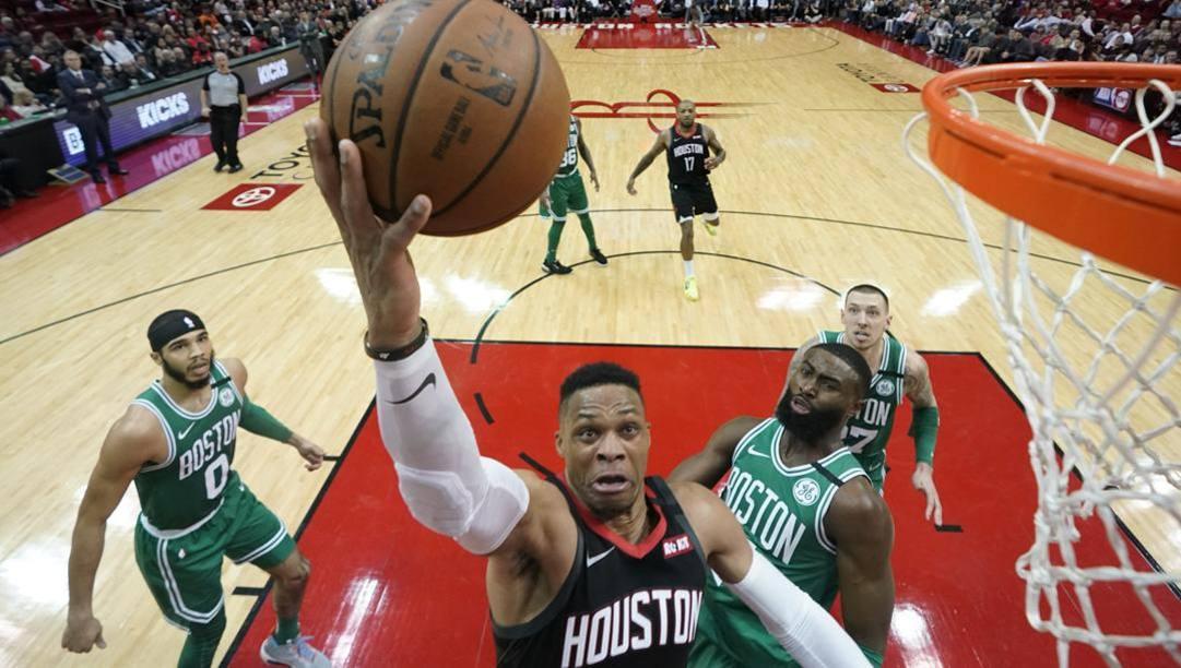 Russell Westbrook, 31 anni, guardia dei Rockets. Lapresse