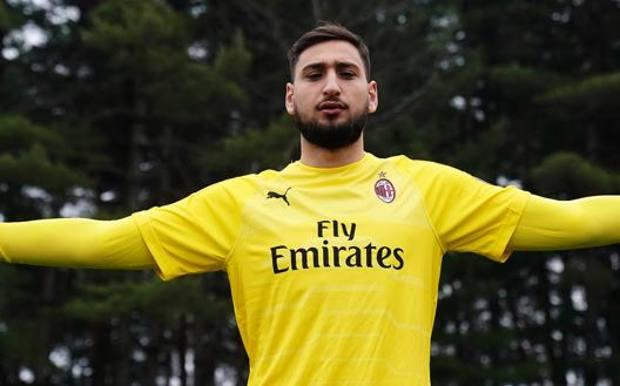 Gianluigi Donnarumma, portiere del Milan e della Nazionale italiana.