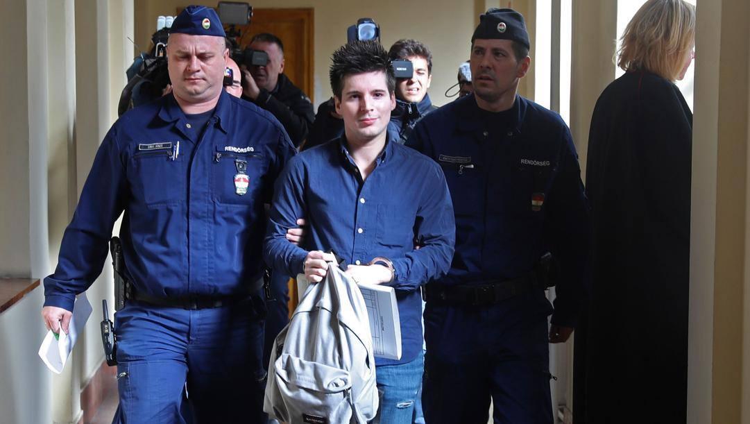 Rui Pinto, 31 anni, al momento dell'arresto a Budapest il 5 marzo 2019. AFP