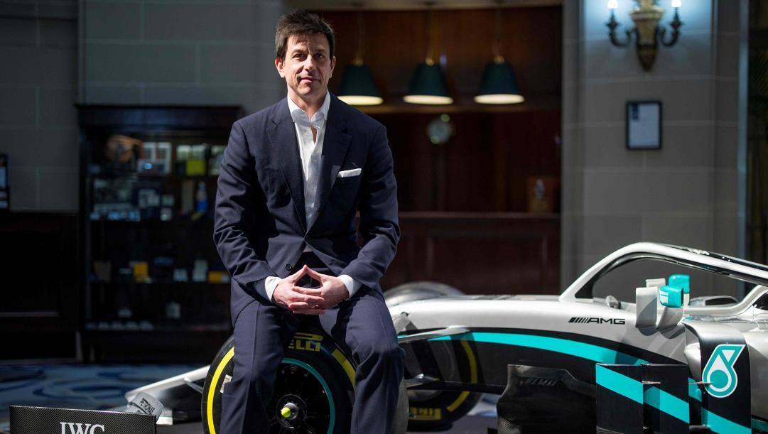 Toto Wolff durante la presentazione della Mercedes 2020. Afp