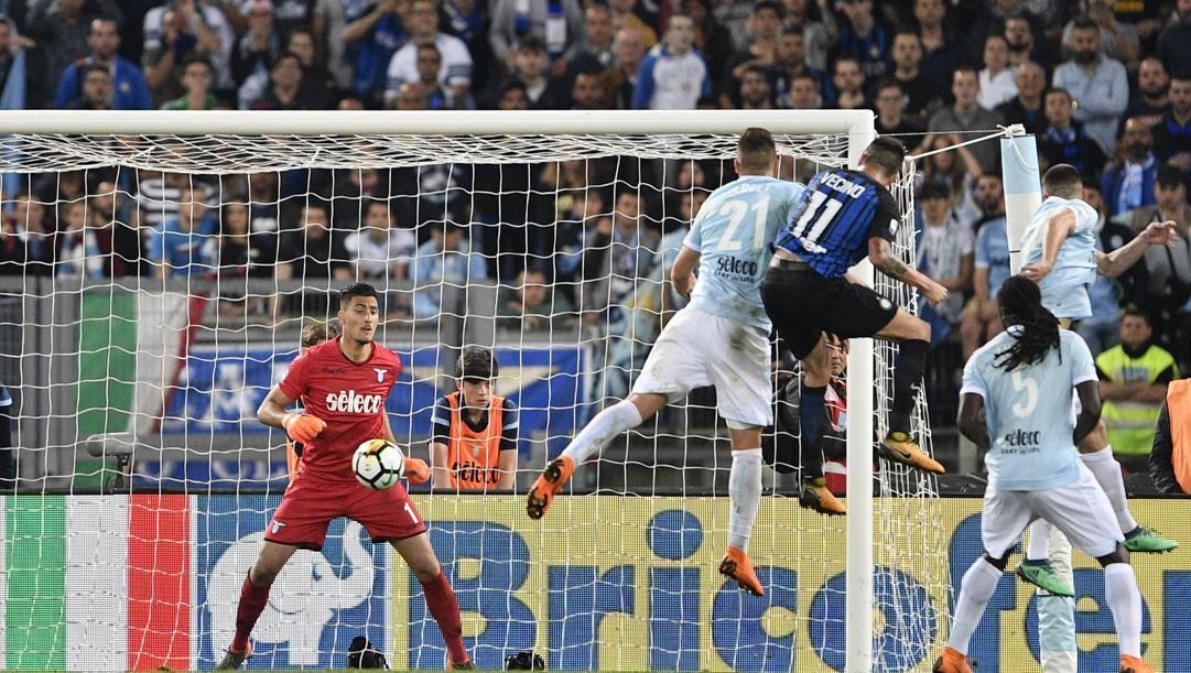 Il gol di Vecino che nel maggio 2018 mandò l'Inter in Champions League. Lapresse