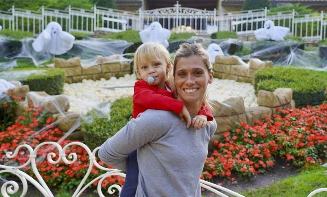 Francesca Dallapè con la figlia