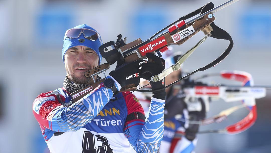 Alexander Loginov, 28 anni, oro nella 10 km sprint di Anterselva. Ap