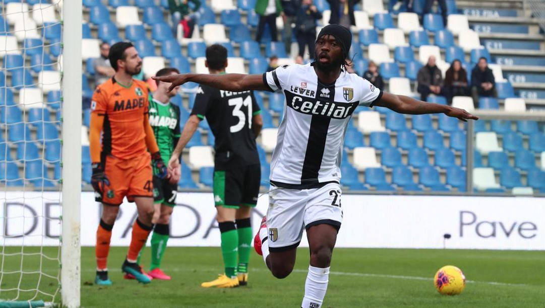 Gervinho dopo il gol al Sassuolo. Ansa