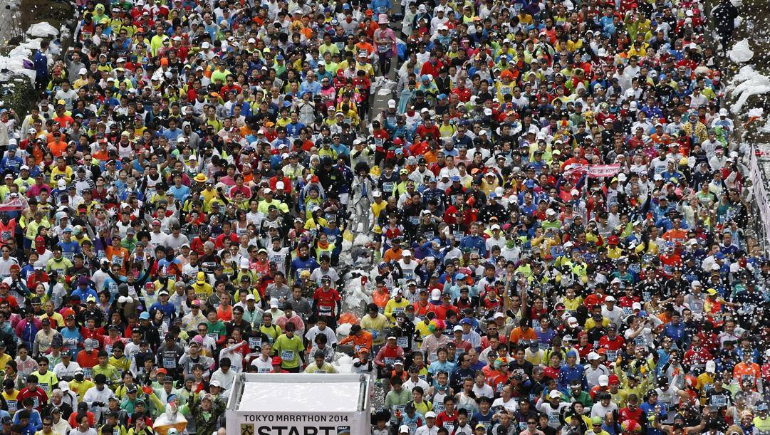 La Tokyo marathon degli anni passati