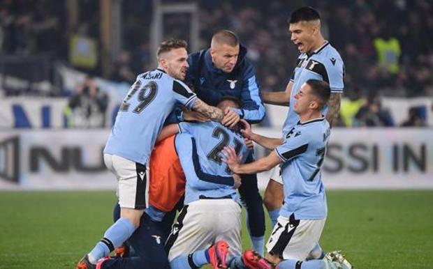 L'esultanza di Milinkovic Savic per il gol contro l'Inter. Lapresse