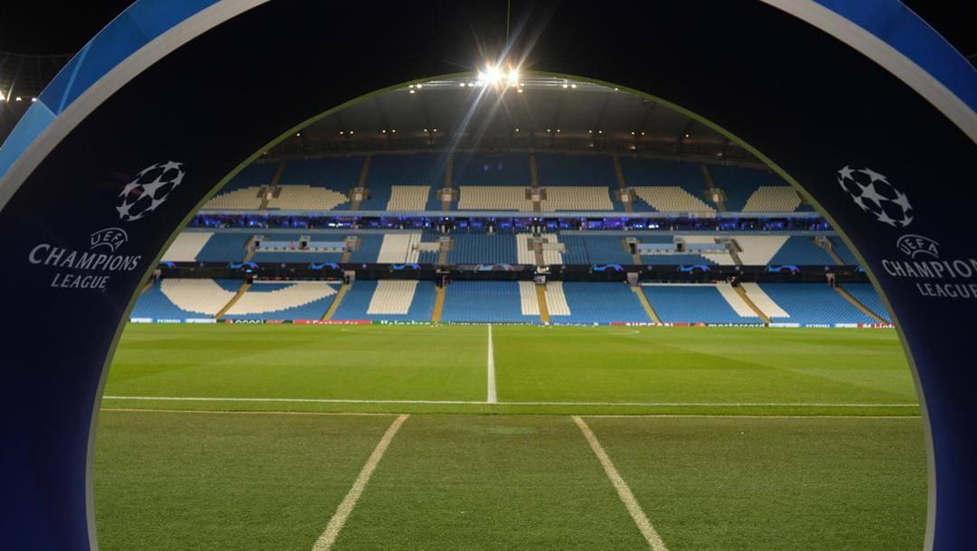 lSuggestiva immagina dell'Etihad Stadium di Manchester. Epa