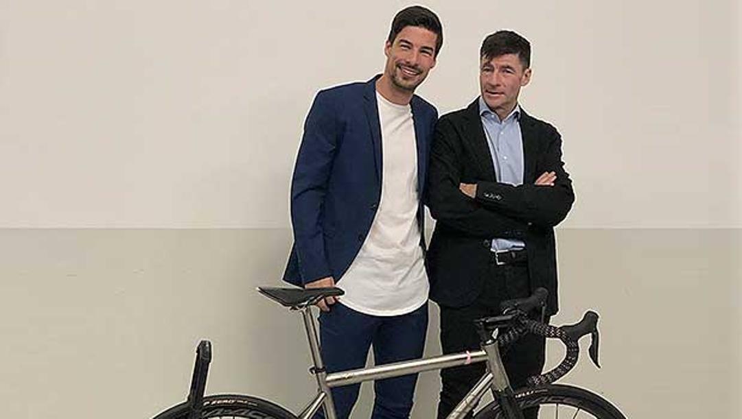 Gianni Bugno e il figlio Alessio