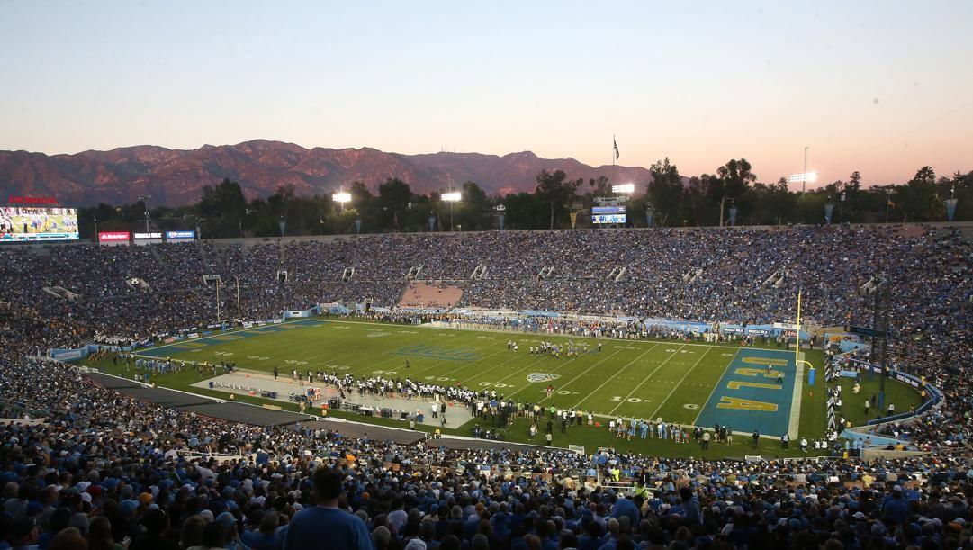 Lo splendido Rose Bowl di Pasadena, impianto da 92.000 spettatori, casa dei Bruins di football. Afp