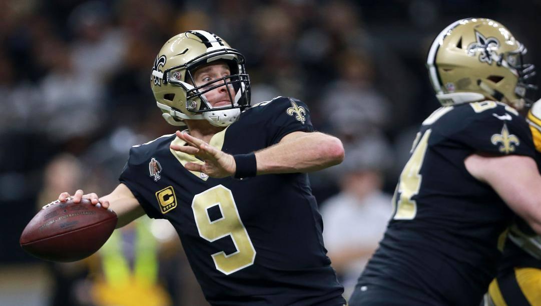 Drew Brees, 41 anni, quarterback dei Saints. Getty