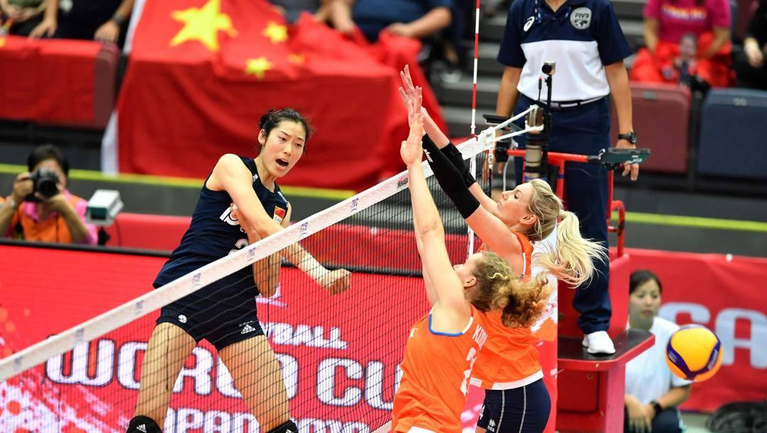 La stella del volley cinese Zhu Ting, 25 anni. Afp