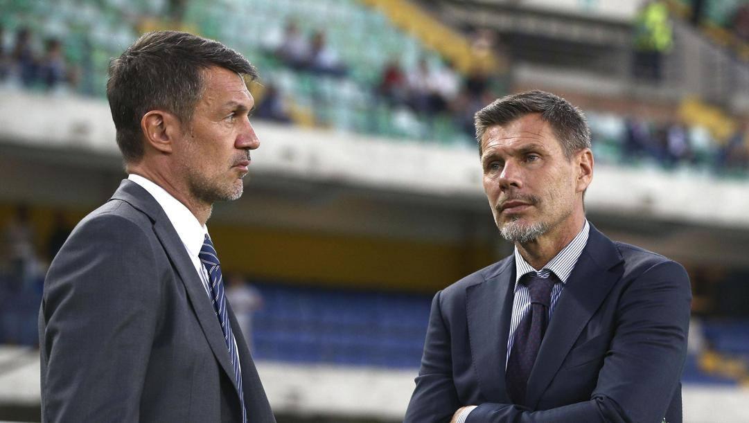 Paolo Maldini, 51 anni e Zvone Boban, 51. (Ansa)