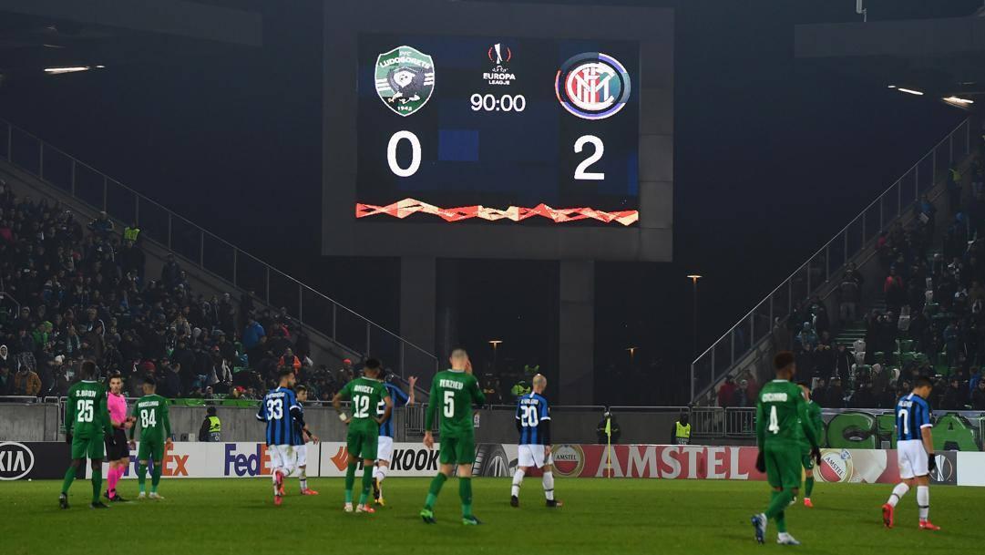 Nell'andata dei sedicesimi l'Inter ha vinto 2-0 in casa del Ludogorets. Getty