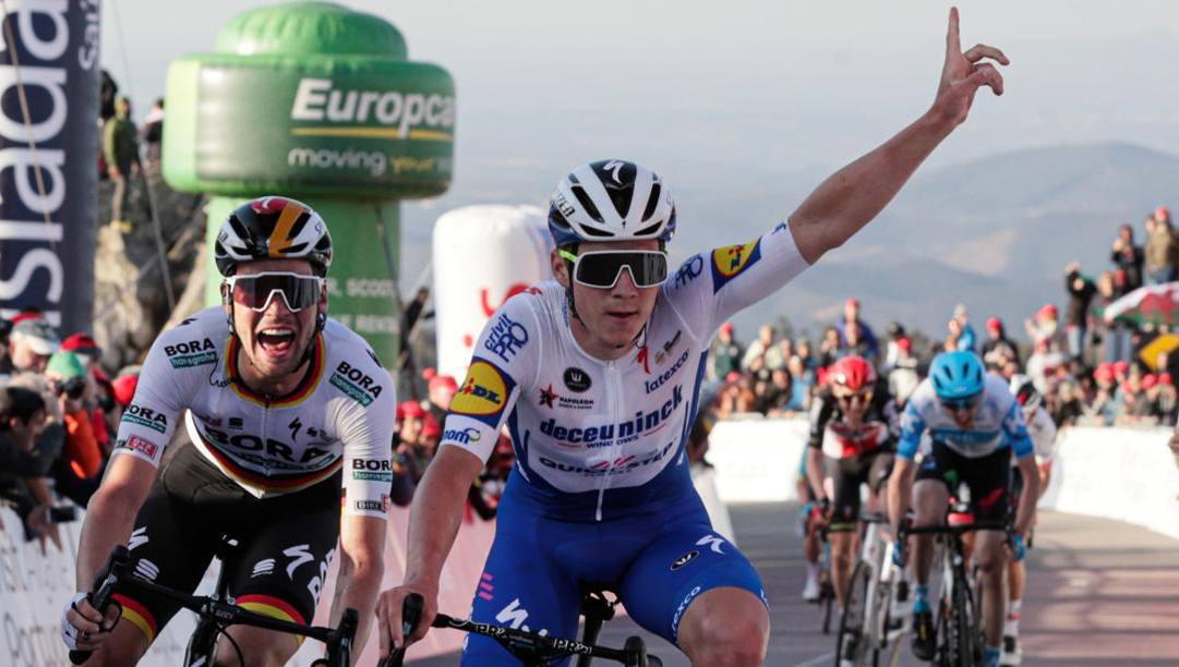 Remco Evenepoel, 20 anni, vince la seconda tappa del Tour dell'Algarve. Epa