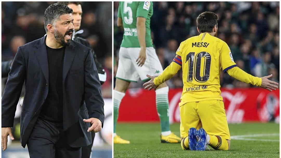 Gennaro Gattuso, 42 anni e Leo Messi, 32.