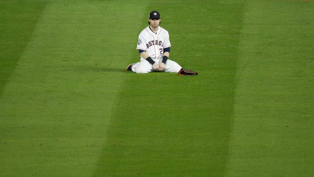 Josh Reddick, 33 anni, esterno degli Astros. Afp