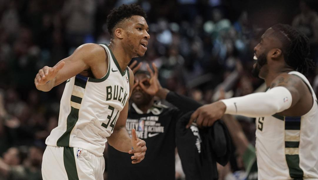 Giannis Antetokounmpo, 25 anni, leader dei Milwaukee Bucks. Ap
