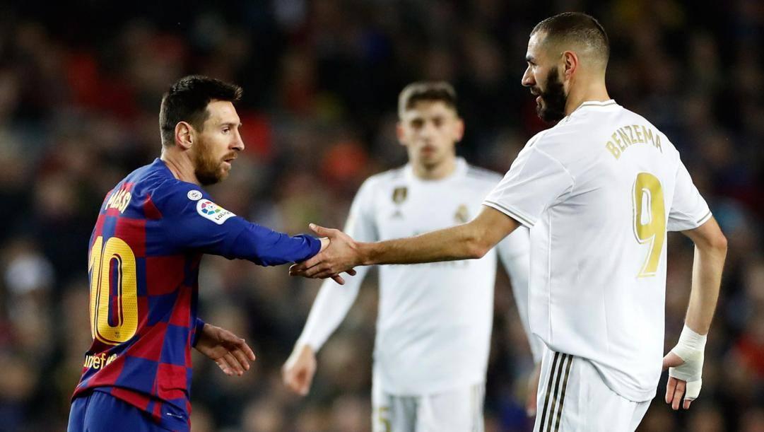 """I """"vecchietti"""" Leo Messi e Karim Benzema. Epa"""