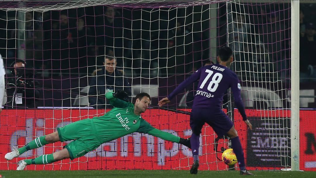 Pulgar supera Begovic: è l'85' di Fiorentina-Milan