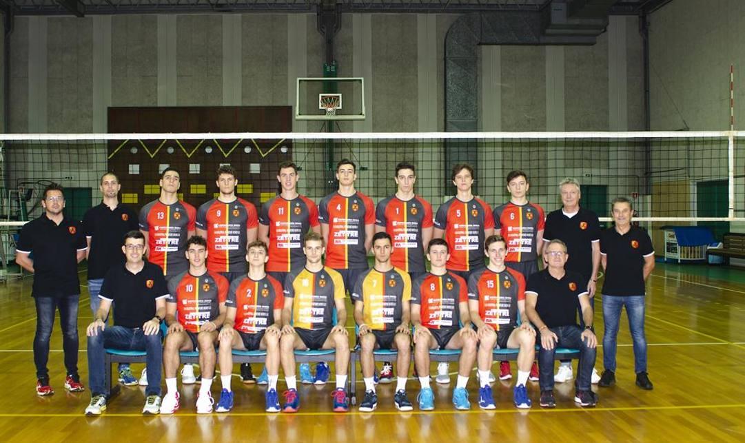 La squadra di volley del Treviso.