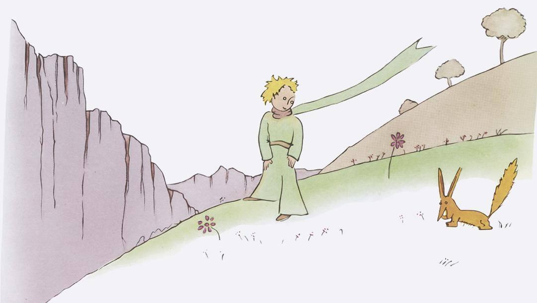 Un'illustrazione del Piccolo Principe, il capolavoro di Saint-Exupéry
