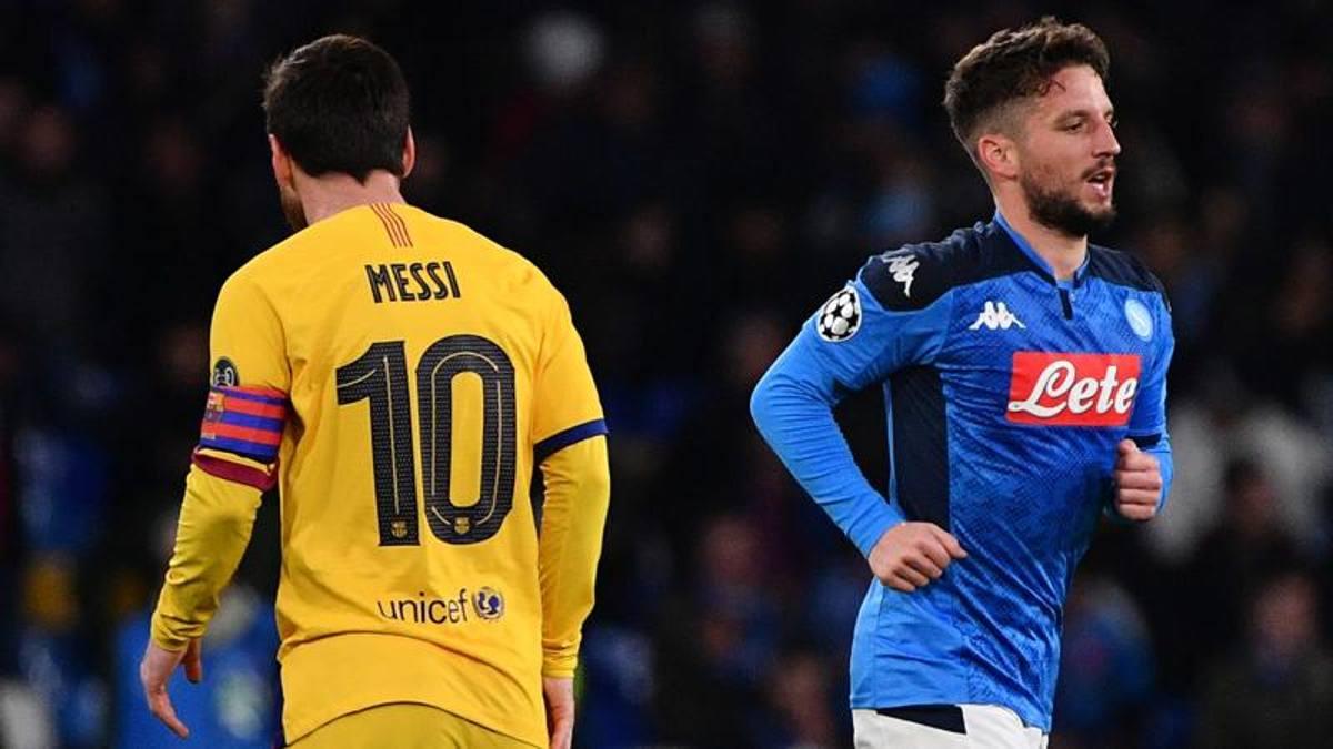 La perla di Mertens spaventa il Barça. Poi Griezmann raggiunge il Napoli
