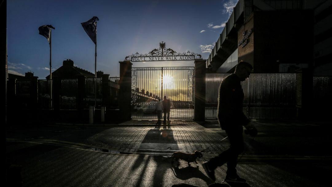 L'ingresso di Anfield. Afp