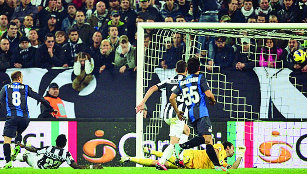 Palacio chiude il match vinto 3-1 dall'Inter. Lapresse