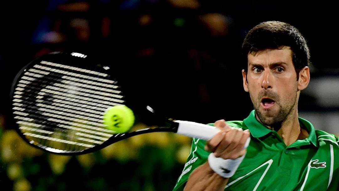 Novak Djokovic, 32 anni, testa di serie numero 1 a Dubai. Afp