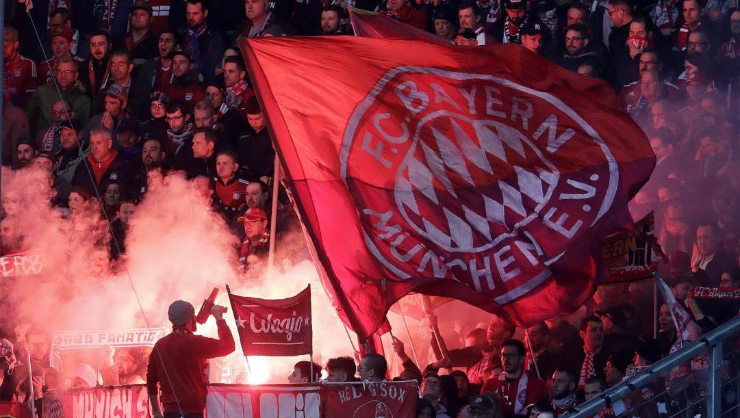 La tifoseria del Bayern Monaco. Ap