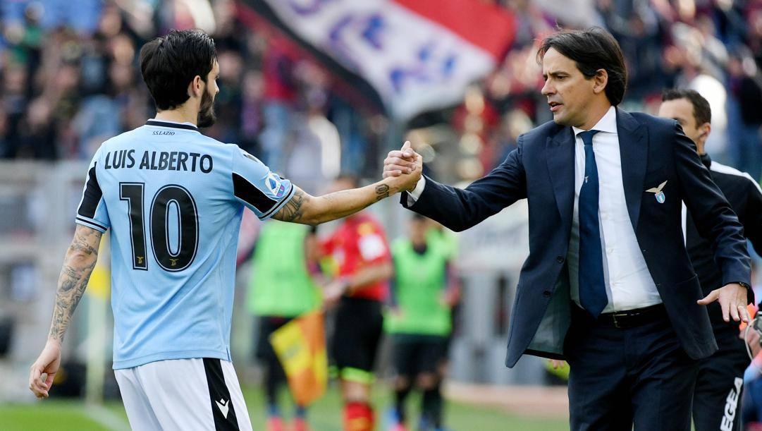 Inzaghi con Luis Alberto. Getty