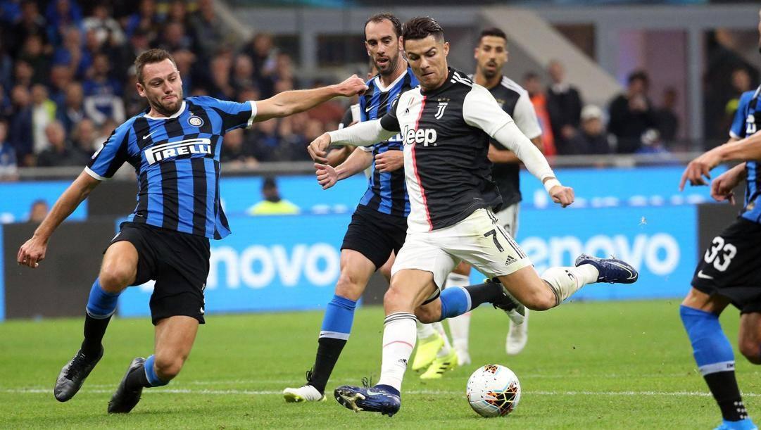 La sfida dell'andata tra Juventus e Inter. Ansa