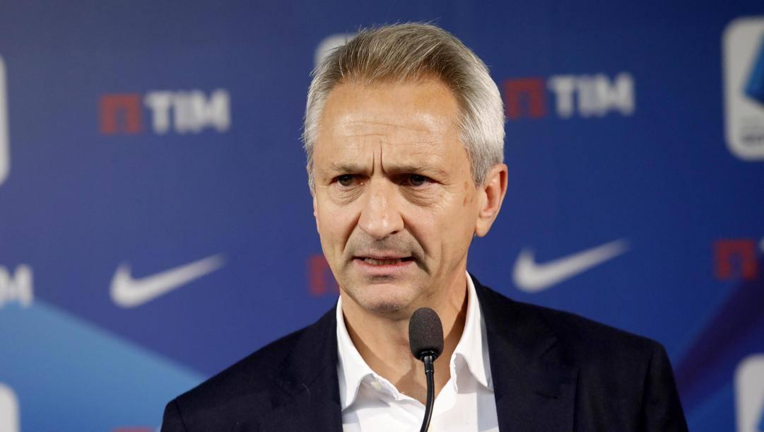 Il presidente della Lega di A, Paolo Dal Pino, 57 anni. Ansa