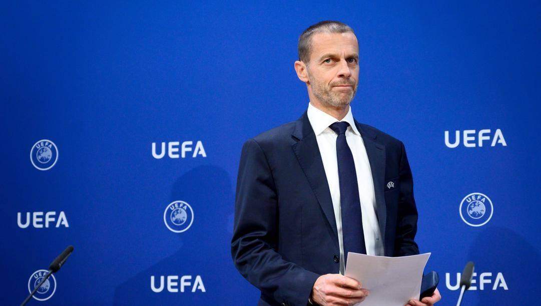 Aleksander Ceferin, presidente Uefa. Afp
