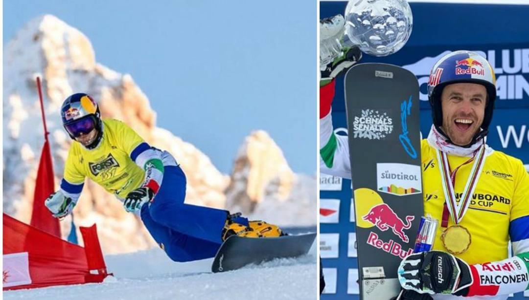 Roland Fischnaller vincitore della Coppa del Mondo di snowboard parallelo. (Da Instagram)