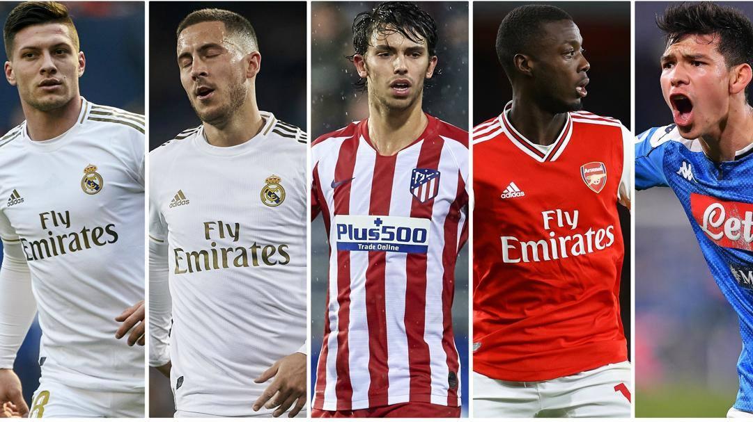 Jovic, Hazard, Joao Felix, Pépé, Lozano.