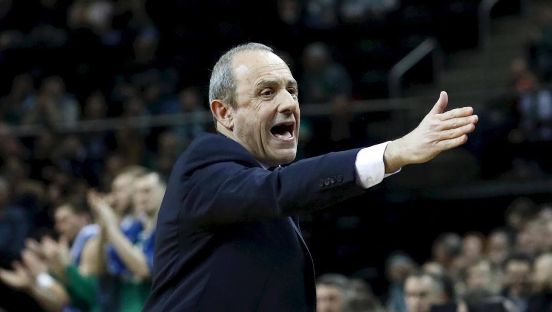 Il coach di Milano Ettore Messina, 60 anni. Epa
